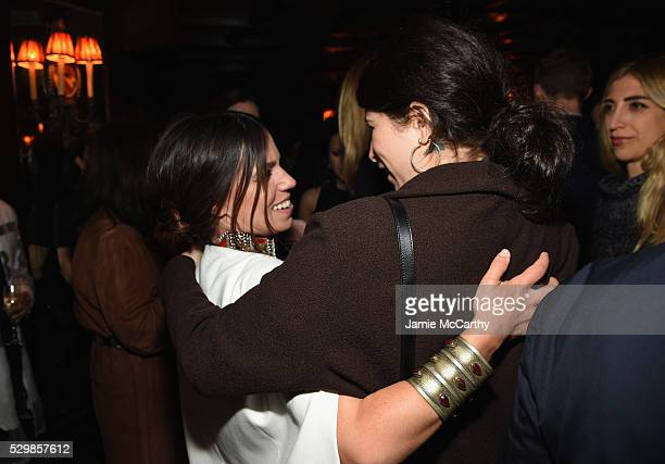 Author Ally Hilfiger and designer Pamela Love attend the launch of Ally Hilfiger's book, 'Bite Me' hosted by Ally and Tommy Hilfiger at The Jane...