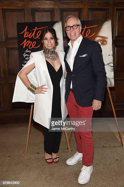 Author Ally Hilfiger and fashion designer Tommy Hilfiger attend the launch of Ally Hilfiger's book 'Bite Me' hosted by Ally and Tommy Hilfiger at The...
