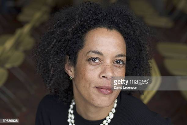Author Aminatta Forna poses for a portrait at the annual Sunday Times Oxford Literary Festival held at the Oxford Union on April 16 2005 in Oxford...