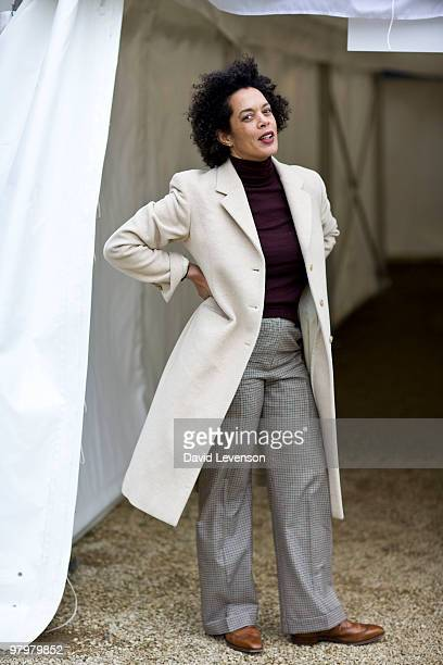 Author Aminatta Forna poses for a portrait at the Oxford Literary Festival in Christ Church on March 23 2010 in Oxford England