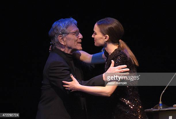 Author Amos Oz and actress Natalie Portman attend the UCLA Younes & Soraya Nazarian Center For Israel Studies 5th Annual Gala at Wallis Annenberg...