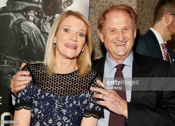 Author and ABC News Chief Foreign Affairs Correspondent Martha Raddatz and Executive Producer Mike Medavoy attend 'The Long Road Home' Washington DC...