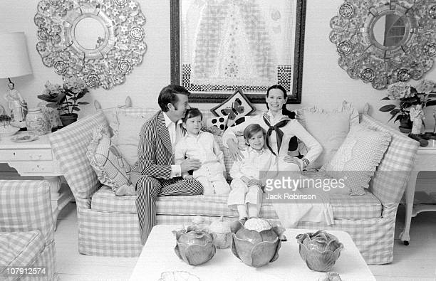 Author and actor Wyatt Emory Cooper, Carter Vanderbilt Cooper, heiress and socialite Gloria Vanderbilt and Anderson Cooper pose for a family portrait...