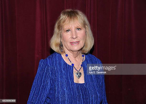 Author and Actress Christina Crawford attends the documentary screening of Christina Crawford Surviving Mommie Dearest at St Luke's Theater on...