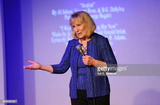 Author and actress Christina Crawford speaks during the documentary screening of Christina Crawford Surviving Mommie Dearest at St Luke's Theater on...