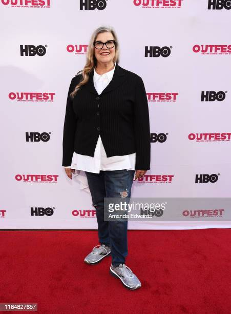 Author and actress Linda Arroz arrives at the 2019 Outfest Los Angeles LGBTQ Film Festival Closing Night Gala Premiere of Before You Know It at The...