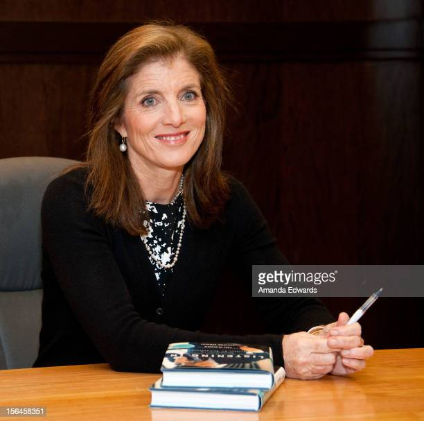 Author and attorney Caroline Kennedy signs copies of 'Listening In The Secret White House Recordings of John F Kennedy' at Barnes Noble bookstore at...