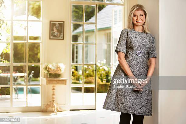 Author and chair president and editorinchief of the Huffington Post Arianna Huffington is photographed in her home for New York Moves Magazine on...