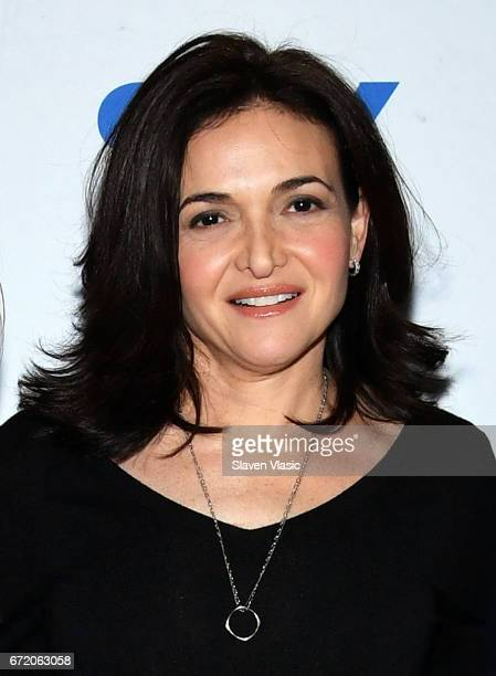 Author and COO of Facebook Sheryl Sandberg attends 92Y's event 'Sheryl Sandberg And Adam Grant In Conversation With Katie Couric' at 92nd Street Y on...