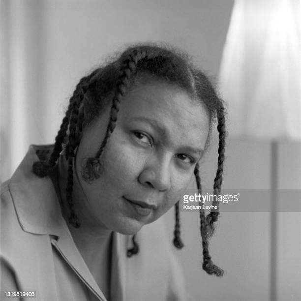 Author and cultural critic bell hooks poses for a portrait on December 16, 1996 in New York City, New York.