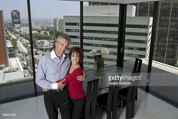 Author and daughter of Dean Martin Deana Martin is photographed with husband John Griffeth on October 1 2004 at home in Beverly Hills California