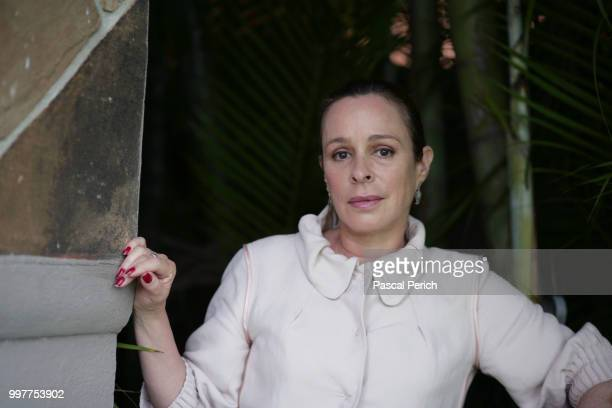 Author and daughter of Fidel Castro, Alina Fernandez is photographed for Femmes Magazine on October 22, 2008 in Little Havana in Miami, Florida.