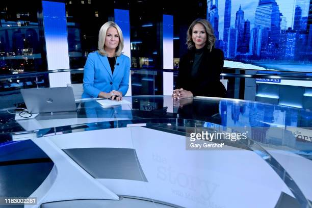Author and domestic violence awareness advocate Sil Lai Abrams and host Martha MacCallum seen on the set of the Story with Martha MacCallum at Fox...