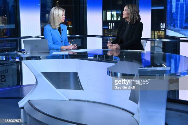 Author and domestic violence awareness advocate Sil Lai Abrams and host Martha MacCallum speak on the set of the Story with Martha MacCallum at Fox...