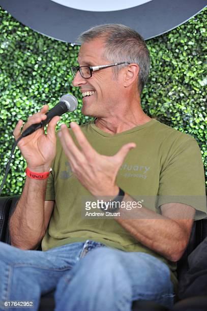 Author and Farm Sanctuary President Gene Baur speaks at the Fonda Theatre on October 23 2016 in Los Angeles California