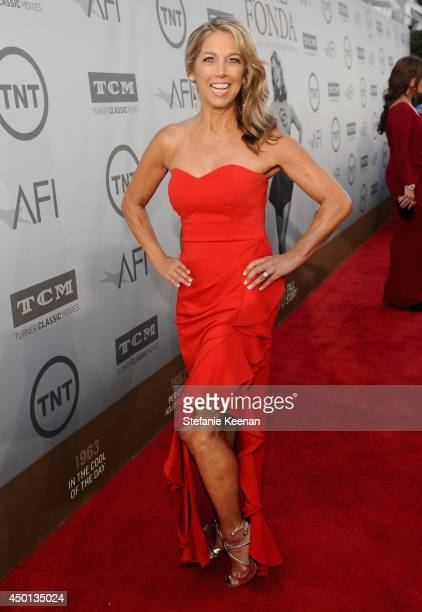 Author and fitness instructor Denise Austin attends the 2014 AFI Life Achievement Award A Tribute to Jane Fonda at the Dolby Theatre on June 5 2014...