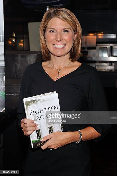 Author and Former White House communications director under George W Bush Nicolle Wallace attends the Eighteen Acres book launch breakfast at the...