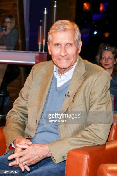 Author and German news anchor Ulrich Wickert during the NDR Talk Show on April 6 2018 in Hamburg Germany