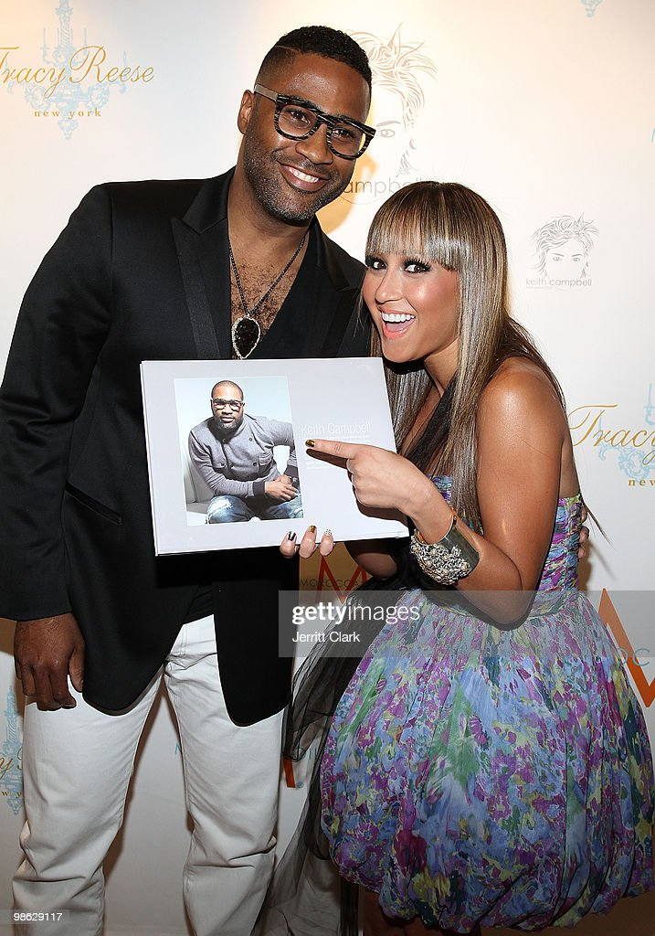 Author and Hair architect Keith Campbell and Singer Adrienne Bailon attend the 'Cuts Of Our Infirmities' book launch party at the Tracy Reese Boutique on April 22, 2010 in New York City.