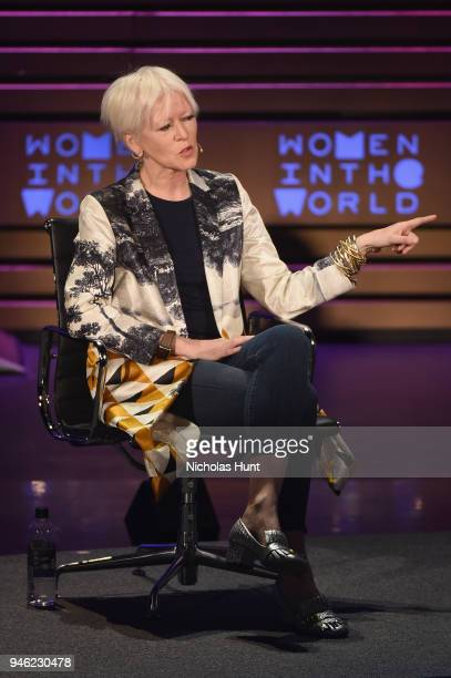 Author and Hearst Magazines Chief Content Officer Joanna Coles speaks onstage at the 2018 Women In The World Summit at Lincoln Center on April 14...