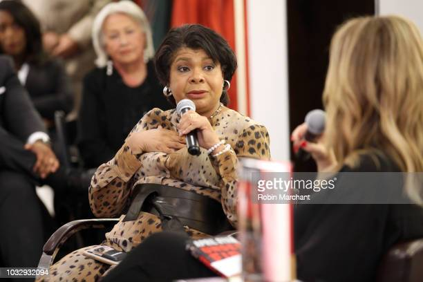Author and journalist April Ryan and journalist Brooke Baldwin speak during Lafayette 148 New York x April Ryan Under Fire Book Launch on September...