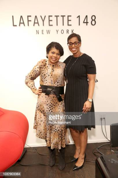 Author and journalist April Ryan and Vice President Corporate Affairs at Pfizer Karen BoykinTowns pose at Lafayette 148 New York x April Ryan 'Under...