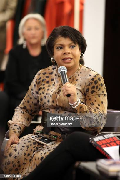 Author and journalist April Ryan speaks during Lafayette 148 New York x April Ryan Under Fire Book Launch on September 13 2018 in New York City