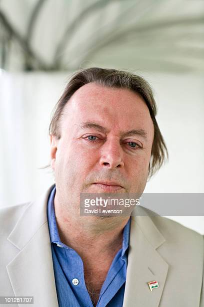 Author and Journalist Christopher Hitchens poses for a portrait at The Hay Festival on May 30 2010 in HayonWye Wales The Annual Hay Festival of...