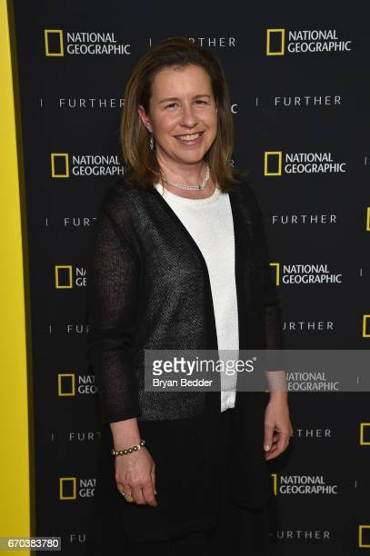 Author and journalist Claudia Kalb at National Geographic's Further Front Event at Jazz at Lincoln Center on April 19 2017 in New York City