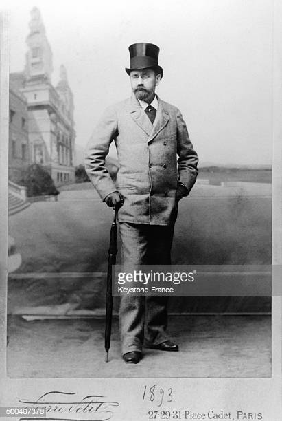 Author and journalist Emile Zola photographed by Pierre Petit 1893 in Paris France