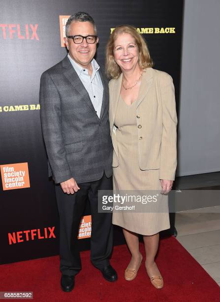 Author and legal analyst Jeffrey Tobin and Amy Bennett McIntosh attend the Five Came Back world premiere at Alice Tully Hall at Lincoln Center on...