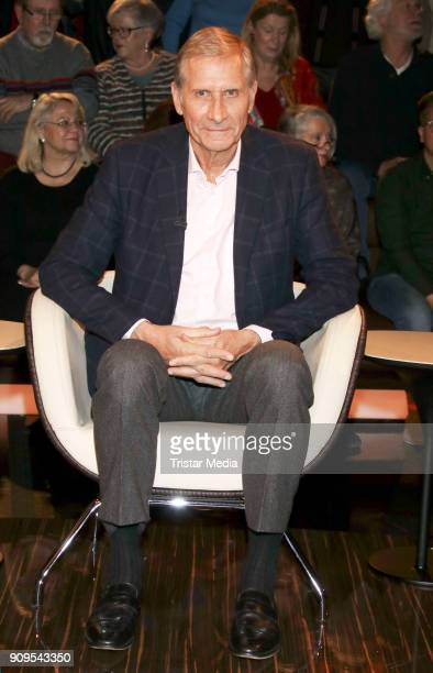 Author and news anchor Ulrich Wickert during the 'Markus Lanz' TV Show on January 24 2018 in Hamburg Germany