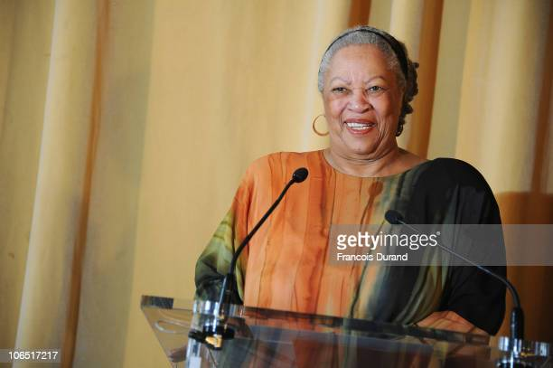 Author and Nobel Prize in literature winner Toni Morrison receives the Honor Medal of The City of Paris at Mairie de Paris on November 4 2010 in...