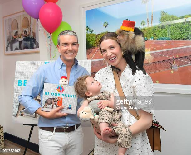 Author and photographer Gray Malin and Whitney Port with Sonny Rosenman attend Gray Malin and Elizabeth Chambers celebrate Gray Malin's First...