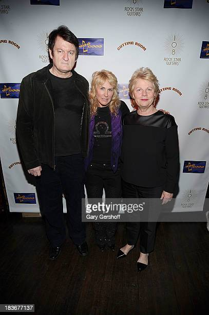 Author and photographer Lisa Johnson and literary agent John Campbell and founder publisher Glitteratti Inc Marta Hallett attend the book launch and...