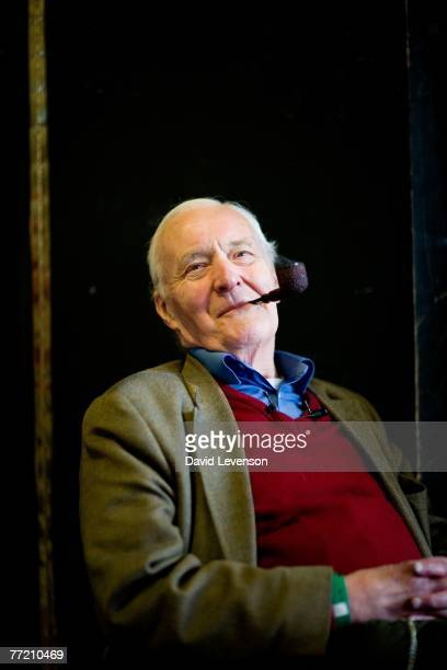 Author and Politician Tony Benn poses for a portrait at the Cheltenham Literature Festival held at Cheltenham Town Hall on October 6 2007 in...