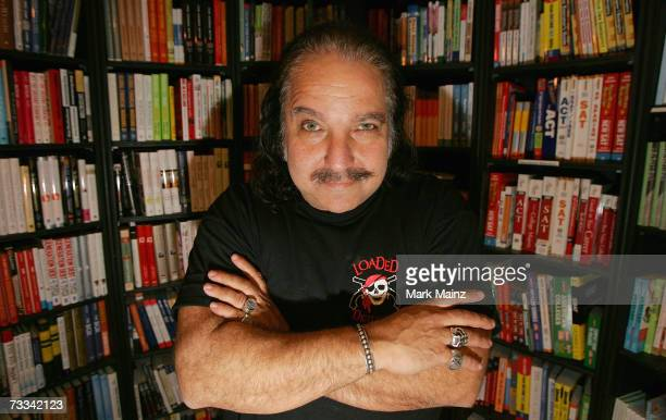 Author and porn star Ron Jeremy signs copies of his selftitled book The Hardest Man in Showbiz at Book Soup February 2007 in Beverly Hills California