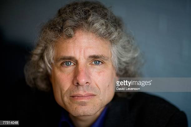 CHELTENHAM ENGLAND OCTOBER 13 Author and psychologist Steven Pinker poses for a portrait at the Cheltenham Literature Festival held at Cheltenham...