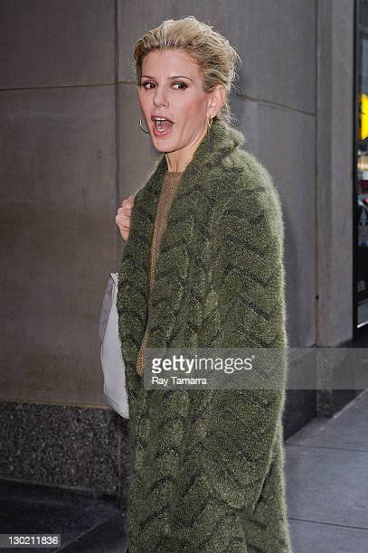 Author and radio personality Alexis Stewart leaves the Today Show taping at NBC Rockefeller Center Studios on October 24 2011 in New York City