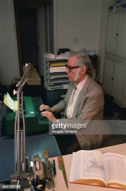 Author and Scientist Isaac Asimov at the Typewriter