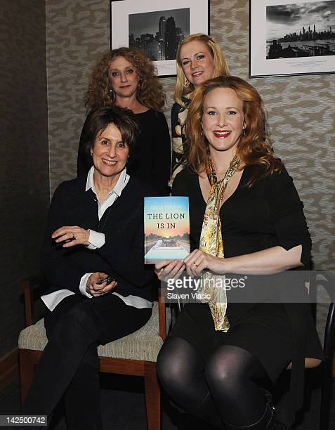 Author and screenwriter Delia Ephron actresses Katie Finneran Melissa Joan Hart and Carol Kane promote Mrs Ephron's 'The Lion Is In' at Barnes Noble...