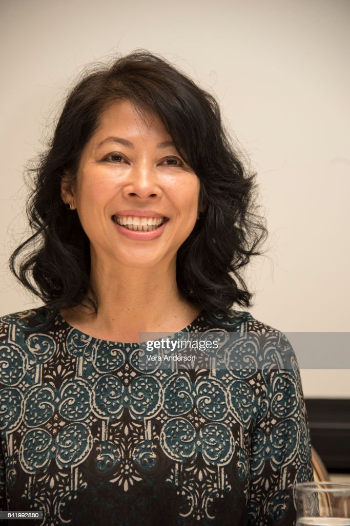 Author and screenwriter Loung Ung at the 'First They Killed My Father' Press Conference at the Four Seasons Hotel on August 25, 2017 in Beverly Hills, California.