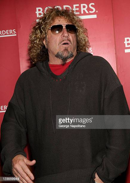 Author and singer Sammy Hagar promotes his new book Red My Uncensored Life In Rock at Borders Columbus Circle on March 15 2011 in New York City