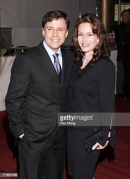 Author and sports caster Bob Costas and his wife Jill Sutton stop for photographers while entering The Kennedy Center's Tenth Annual Mark Twain Prize...