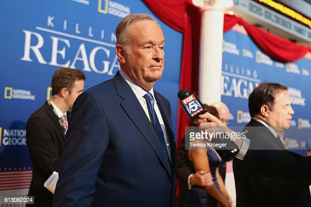 Author and television host Bill O'Reilly attends the 'Killing Reagan' Washington DC premiere at The Newseum on October 6 2016 in Washington DC