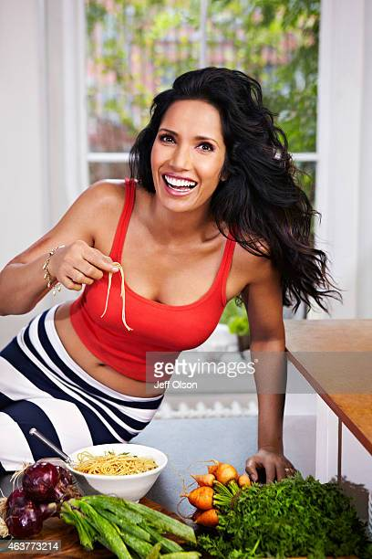 Author and television host Padma Lakshmi is photographed for Fitness Magazine in November in New York City PUBLISHED COVER