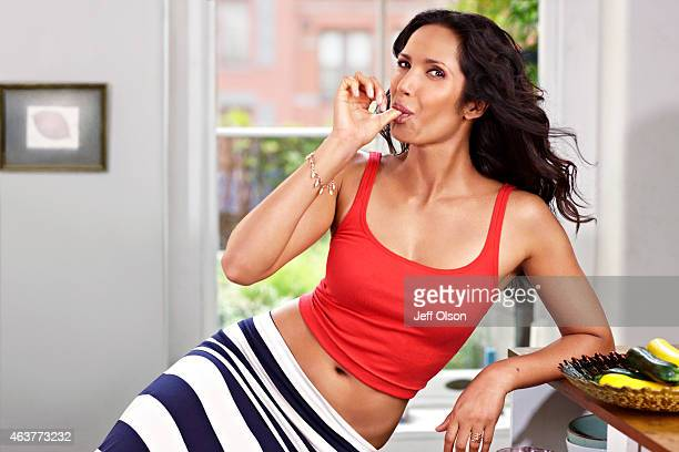 Author and television host Padma Lakshmi is photographed for Fitness Magazine in November in New York City PUBLISHED IMAGE
