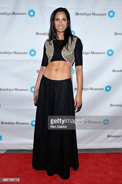 Author and TV host Padma Lakshmi attends the 4th annual Brooklyn Museum Brooklyn Artists Ball on April 16 2014 in the Brooklyn borough of New York...