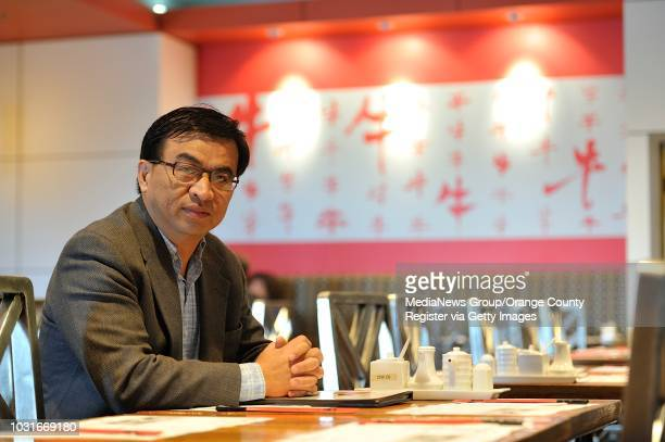 Author and UCI Professor Yong Chen at Chef Hung Taiwanese Beef Noodle in Irvine on Wednesday Yong has written a book called Chop Suey USA about the...