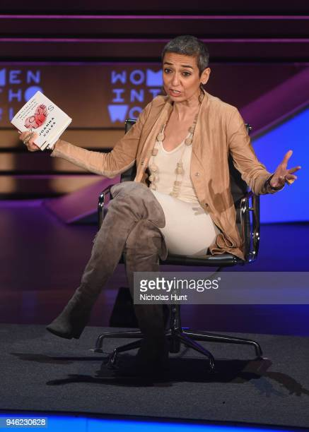Author and Women for Women International Founder Zainab Salbi speaks onstage at the 2018 Women In The World Summit at Lincoln Center on April 14 2018...